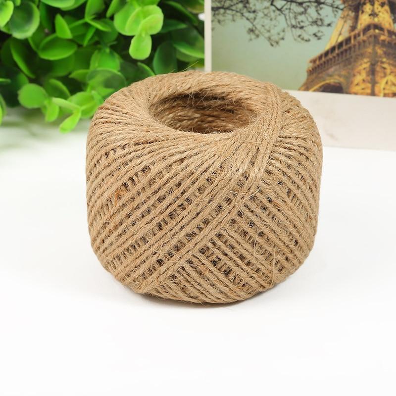 100m jute twine sisal rope burlap string rope cord package rope wrap gif craft making hemp - Sisal Rope