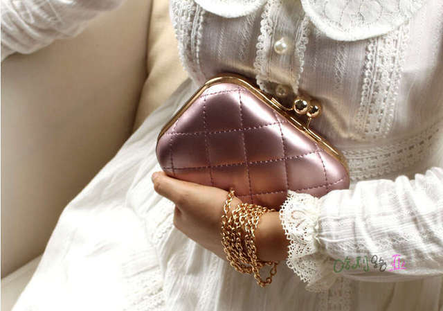 New 2015 Mini Evening Bag Fashion Candy Color Women Messenger Bags Day Clutch Long Chain Shoulder Bag Vintage Women Day Clutch