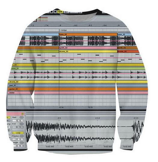 2018 Ableton Live Crewneck Sweatshirt Among Music Production Software 3d Jumper Women Men Casual Outfits Sweats