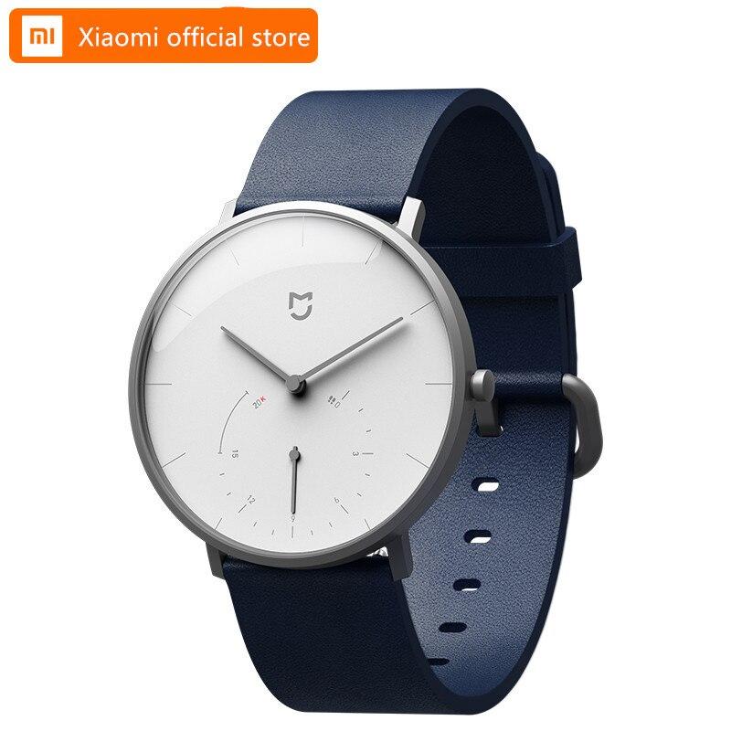 Original Xiaomi Mijia relojes de cuarzo impermeable doble Dial con alarma deporte Sensor BLE4.0 conexión inalámbrica inteligente Mi casa APP