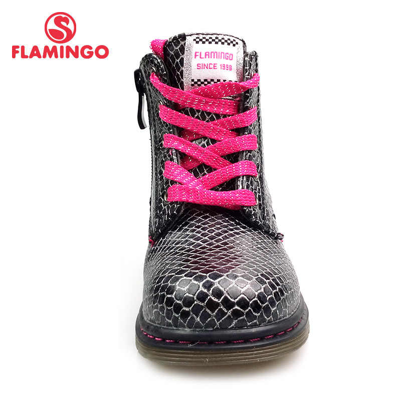 FLAMINGO Herfst Boot antislip Warm Houden Kinderen Lace-Up & Zip Boot Size 22-28 Kid schoen voor Meisje Gratis verzending 82B-BNP-0959/0960