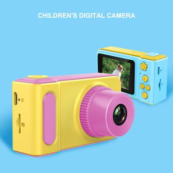 Aparat cyfrowy dla dzieci mały uroczy aparat fotograficzny mały aparat SLR Motion aparat zabawka gra animowana zdjęcie prezent urodzinowy dla dzieci tanie i dobre opinie OLOEY 2x Brak 1440X1080P CMOS 2 3 cali 16-50mm 5 0MP C2122 Karta sd Ekran dotykowy 2 -3 Jpeg Teleskopowa Ekran LCD