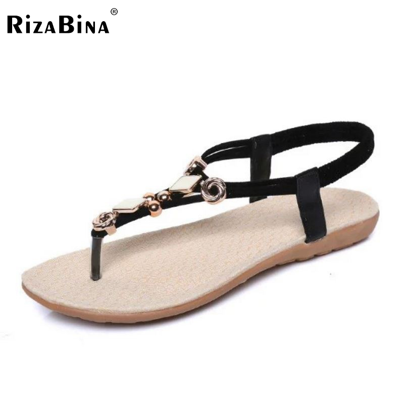 Ladies Bohemia Flats Sandal Women Elastic Flat Flip Flops Metal Slipper Leisure Soft Summer Shoes Sexy Beach Footwear Size 36-40 short curl hair lifelike reborn toddler dolls with 20inch baby doll clothes hot welcome lifelike baby dolls for children as gift