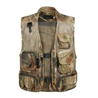 Summer Mesh Camouflage Vests With Multi Pocket Men Sleeveless Jacket Net Casual Waistcoat Loose Army Military Vest