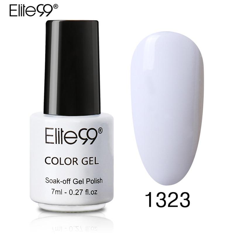 Elite99 7ML UV LED Gel Nail Polish Soak Off Gel Nail Polish Nude Pick Girl White Nail Varnish Semi Permanent Lacquer Bottle Any1