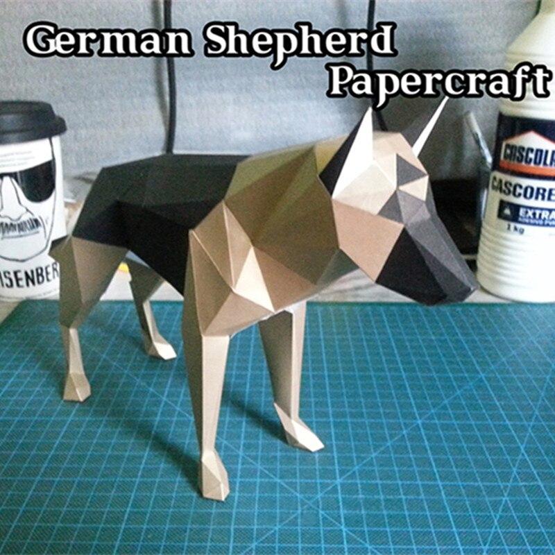diy dekorasi rumah collie anjing gembala model kertas teka teki mainan hewan untuk restoran bar