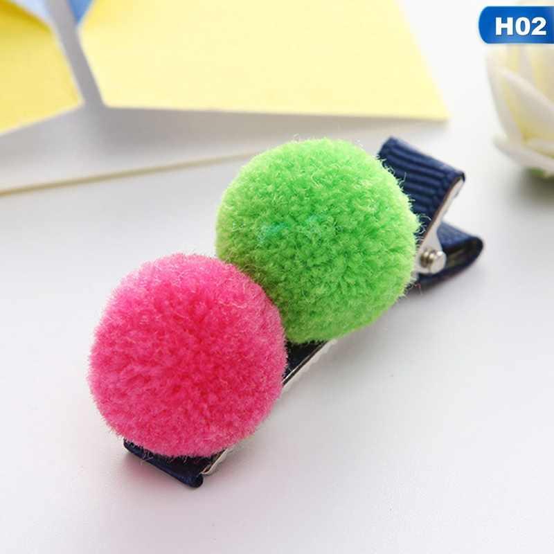1 шт. милый меховой шарик заколки для волос для маленьких девочек детский головной убор Подарочная шпилька модный стиль детский головной убор аксессуары