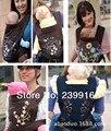 Varejo frete grátis MEI TAI 3 em 1 Baby Carrier Carry Baby Carrier Sling Rider Coffee Minizone