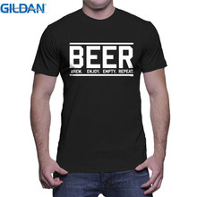 T Shirt 2017 New Shirts With Designs Crew Neck Men Novelty Short Sleeve Beer Brew Tees