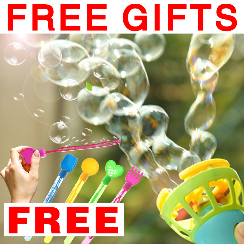 Bubble Gun Blower Bubble Machine Wand for Baby Toys Soap Bubbles Bubble Show for Kids Toys Games Playground Picnic Essential