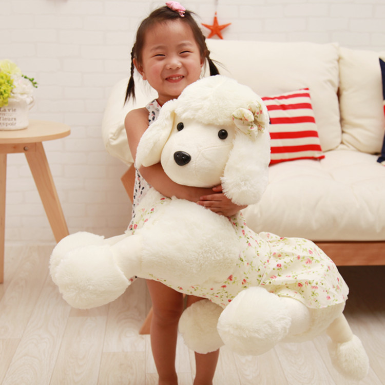 stuffed animal white beige dog poodle plush toy large 80cm dog doll soft throw pillow birthday gift b0985 stuffed animal jungle lion 80cm plush toy soft doll toy w56