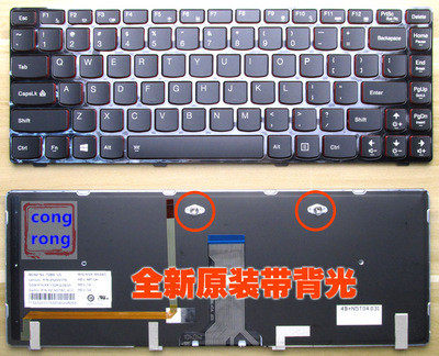 KEYSHEN Laptop Notebook Replacement Keyboard for Lenovo Y400 Y410 Y430P Y400P Y410P Y400N Y410N Red Frame US Layout