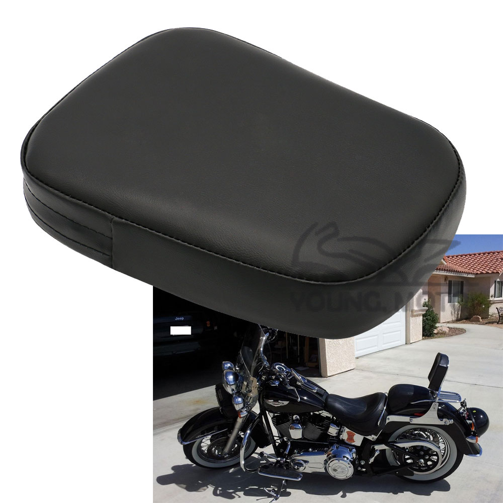 Universal Motorcycle Seats : Motorcycle leather passenger seat backrest pillion cushion