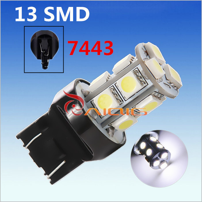 7443 7440 13 SMD 5050 Pure White <font><b>LED</b></font> Car <font><b>Bulb</b></font> Auto w21/5w <font><b>led</b></font> car <font><b>bulbs</b></font> <font><b>rear</b></font> brake Lights Car Light Source parking 12V image