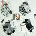 Бесплатная доставка (12 пар/лот) 100% хлопок Детские носки резиновые скольжению пола носки маленького малыша 1-2yearsatws0010