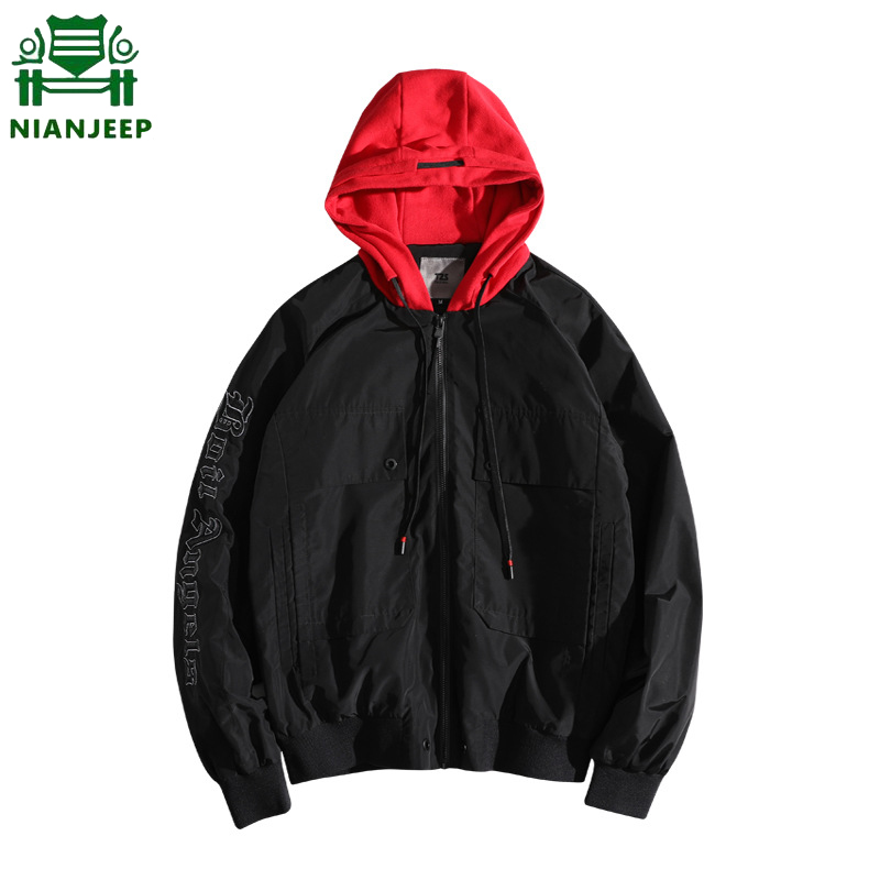 Jacket Hooded NIANJEEP Outwear Windbreaker Brand-Clothing High-Quality New-Brand Couples