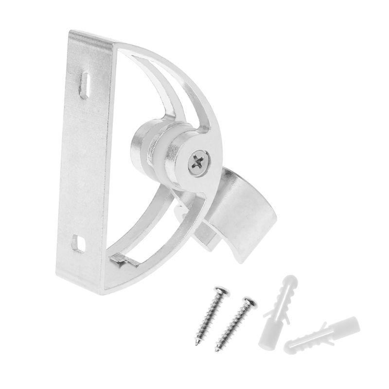 Bathroom Wall Mounted Hand Shower Holder Adjustable Pipe Head Rail Slide Bracket