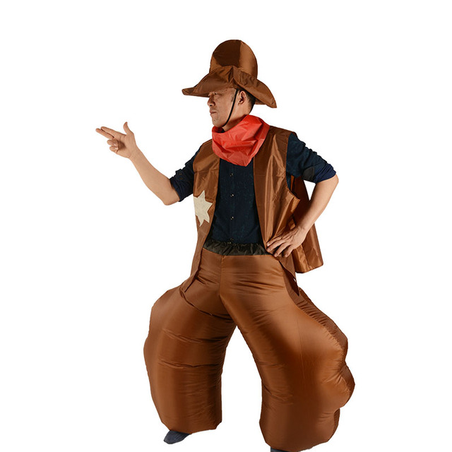 2018 Halloween Inflatable Cowboy Costume For Adult Men and Women Cowgirl Ole Cow Cosplay Funny Dress  sc 1 st  AliExpress.com & 2018 Halloween Inflatable Cowboy Costume For Adult Men and Women ...