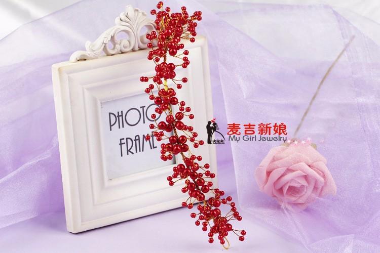 Korea-Style-Beauty-Elegant-Pearls-Bride-Decoration-Wedding-Brideal-Hats-Flower-Bride-Veil-White-Short-Flowers (2)