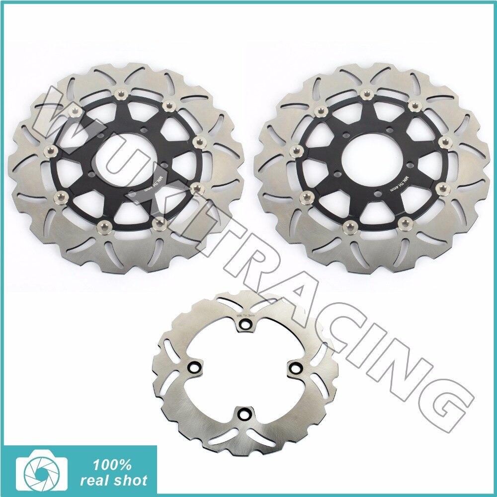 BIKINGBOY полный комплект передние задние тормозные диски ротора для Kawasaki ZX6 ниндзя 636 Р АБС 2013-2015 ZX10 R на 1000 АБС 2011-2015 2012 2014