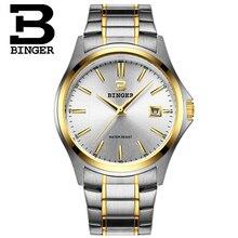 Мода Женева Бингер Мужской Кварцевые часы мужчины Аналоговые наручные Часы Спортивные Часы Розовое Золото Из Нержавеющей Стали часы Dropship