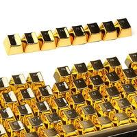 Transparent mechanical keyboard key cap electroplated double color key cap game customized 104 key set