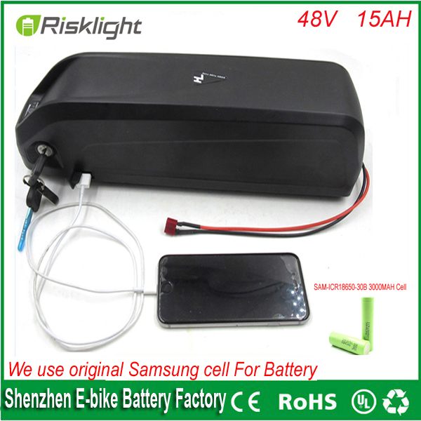 hailong 48v lithium ion battery 48v 15ah 1000w electric bicycle battery with USB port and charger +bms For Samsung Cell 48 volt li ion battery pack electric bike battery with 54 6v 2a charger and 25a bms for 48v 15ah lithium battery