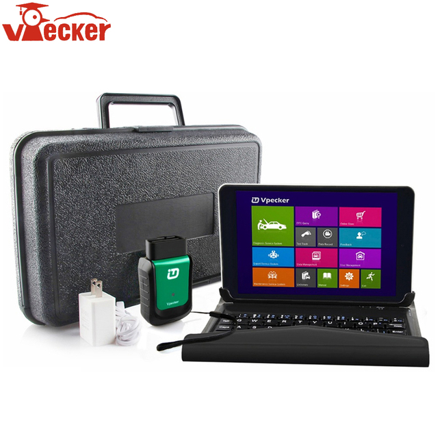 Big Sale Vpecker V10.7 Full Systems Car Diagnostic Tool ODB 2 Automotive Scanner Easydiag OBD2 Wifi Code Read 8 inch Win10 Vpecker Tablet