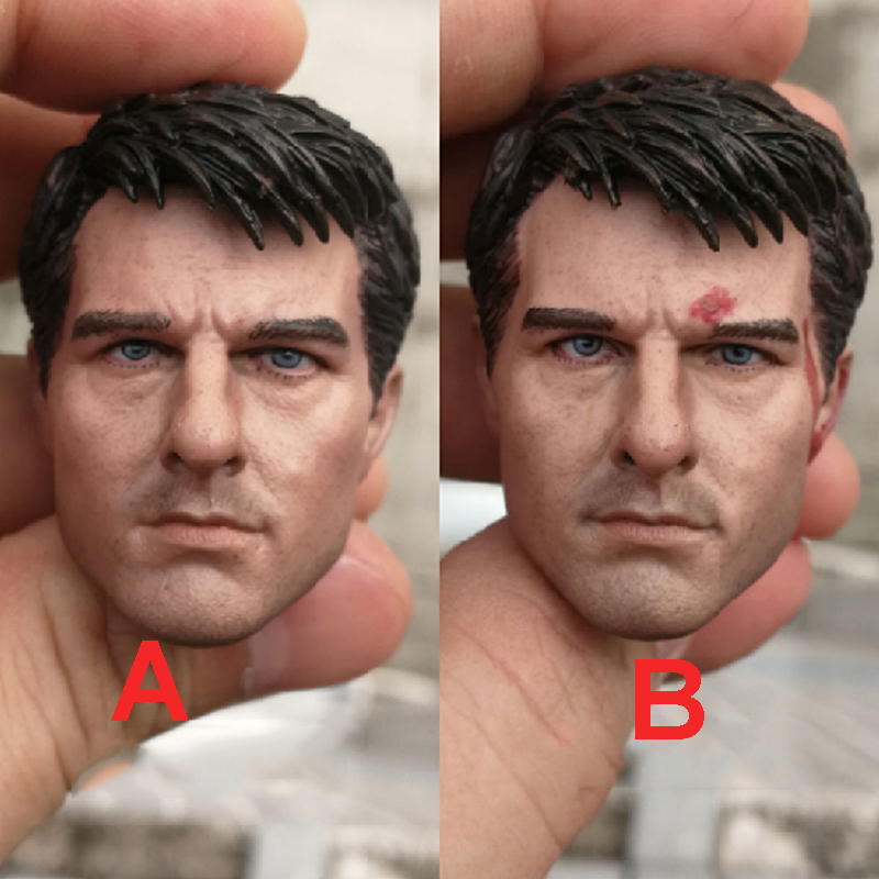 1/6 Tom Cruise Head Sculpt Carved Model For 12