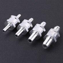 Высокое качество алюминии Сплав топливным обратным проверочным клапаном в одну сторону бензин дизель 6/8/10/12 мм