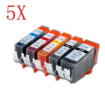 5x Compatible PGI-725 CLI 726 cartucho de tinta para Canon IP4870 IP4970 IX6560 MG5170 MG5270 MG5370 MG6170 MG6270 MG8170 MG8270 MX8