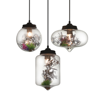 Leaf Fashion Glass Plant Lighting Pendant Lights Led Glass Lamp Retro Pendant Ball Type Lamp Lustres