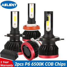 ASLENT H7 Car Headlight Lamp 2pcs 100W 20000LM H4 H11 H1 H3 9005 HB3 9006 HB4 LED Bulb 6500K Auto Headlights Fog Lights 12V 24V