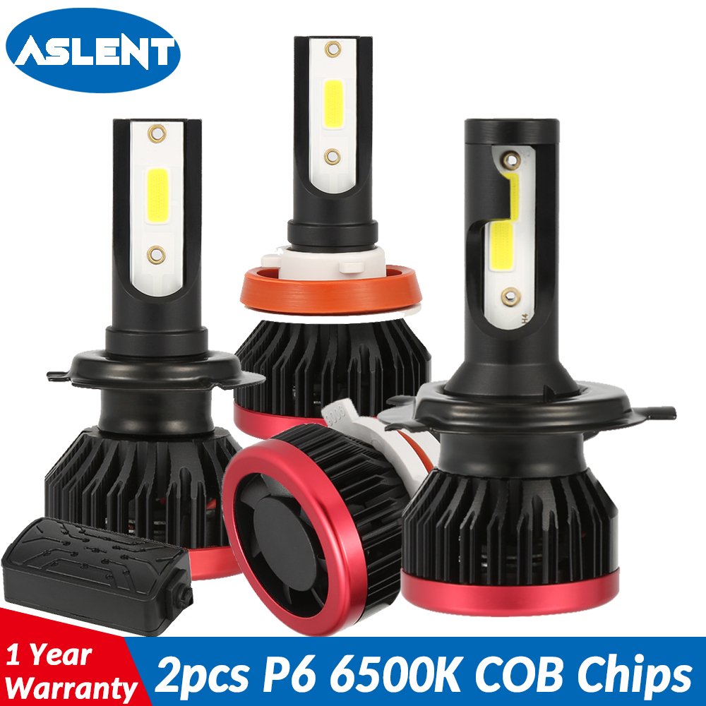 ASLENT H7 Car Headlight Lamp 2pcs 100W <font><b>20000LM</b></font> H4 H11 H1 <font><b>H3</b></font> 9005 HB3 9006 HB4 <font><b>LED</b></font> Bulb 6500K Auto Headlights Fog Lights 12V 24V image