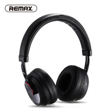 REMAX Wireless Music Bluetooth Headphones Headset with HD Mic Noise Cancelling hifi sound 3D Stereo bass for music phone(China)