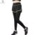 2017 de las NUEVAS mujeres Atractivas Leggings Gimnasio de Entrenamiento Transpirable Pantalones Falsos Dos Piezas Cómodas de Alta Elástico de Las Polainas Para Mujer
