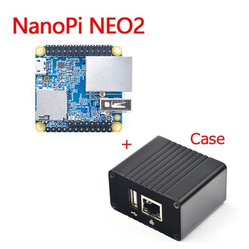 NanoPi NEO2 Allwinner H5,64 Bit High-performance,Quad-Core A53 Demo Board, Running UbuntuCore With Metal Case Kit Free Shipping