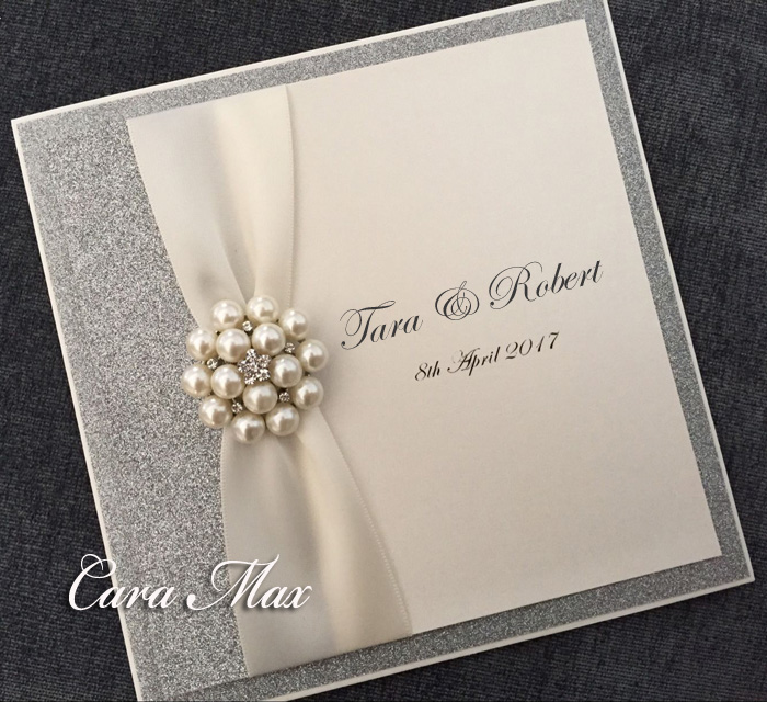 Featured More Silver Glitter Wedding Invitations