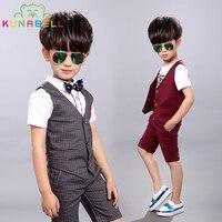 Children S Clothing Sets Summer Baby Boy Gentleman Formal Suit Clothing Suit Set Kids Handsome Cotton