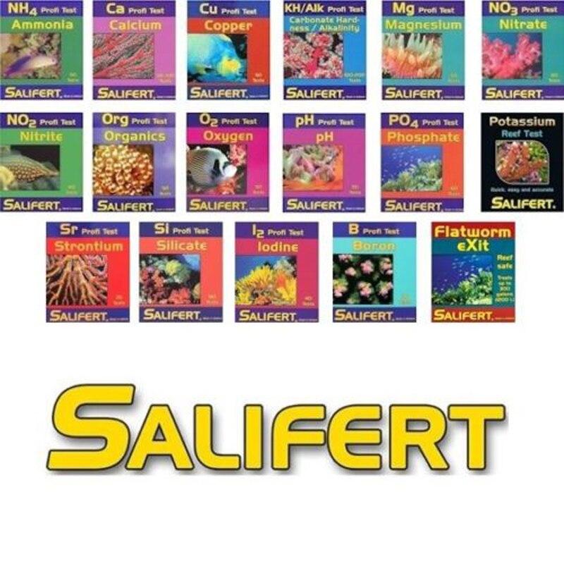 Salifert Test Kit Ca Calcium Cu I2 Kh Mg Nh4 Ammonia No2 Nitrite No3