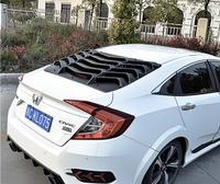 JIOYNG углеродного волокна ABS сзади Ttunk двери окна, жалюзи, рамы подоконник литья Накладка для HONDA CIVIC 2016 2017 2018
