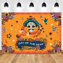 NeoBack Day of The Dead Photography Background Mexicos Skull  Skeleton Event Banner Backdrops Studio Shoots