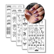 8 шт/компл пластины для ногтей шаблон dream catch лак ногтевого