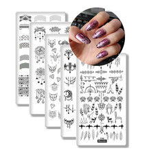 8Pcs/Set Nail Plates Dream Catch Template Nail Art Polish Stamping Plates 3D Image Stencil Nail Art Tools for Nails Stamp недорого