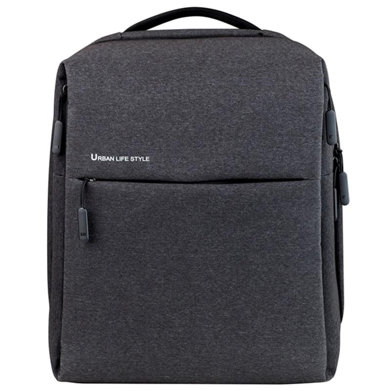 Оригинальный xiaomi минималистский городской рюкзак xiaomi Рюкзак городской  жизни стиль полиэстер Простой Школьный рюкзак сумка для cf5d66aade9