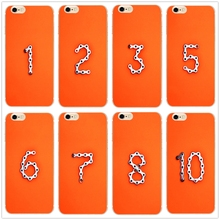 DK Orange Aesthetic Lucky number hard phone case cover for Samsung s8 s9plus S6 S7e for iPhone 7 6s 8plus 5s 5c X XS XR XSMAX