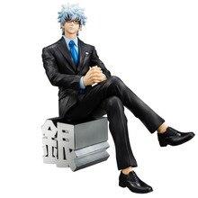 Новые горячие 15 см GINTAMA бизнес костюм Sakata Gintoki фигурка игрушки коллекция кукла Рождественский подарок с коробкой