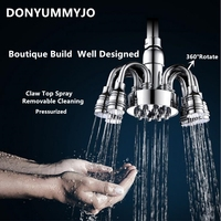 1pcs High Quality Fashion 6 Inch Brass Finished Shower Head Over Head Rainfall Shower Sprayer Top