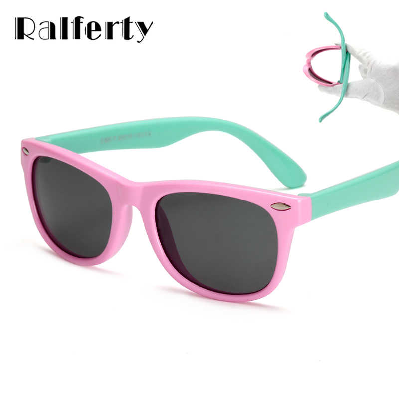 Ralferty TR90 Flexible Kids Sunglasses Polarized Child Baby Safety Sun Glasses UV400 Eyewear Infant oculos de sol 2019 Shades