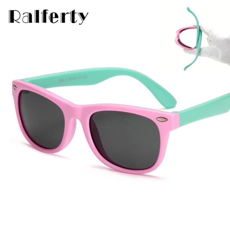 97685f6418d4d Ralferty TR90 UV400 Flexível Crianças Óculos Polarizados Criança da  Segurança Do Bebê Óculos de Sol Óculos